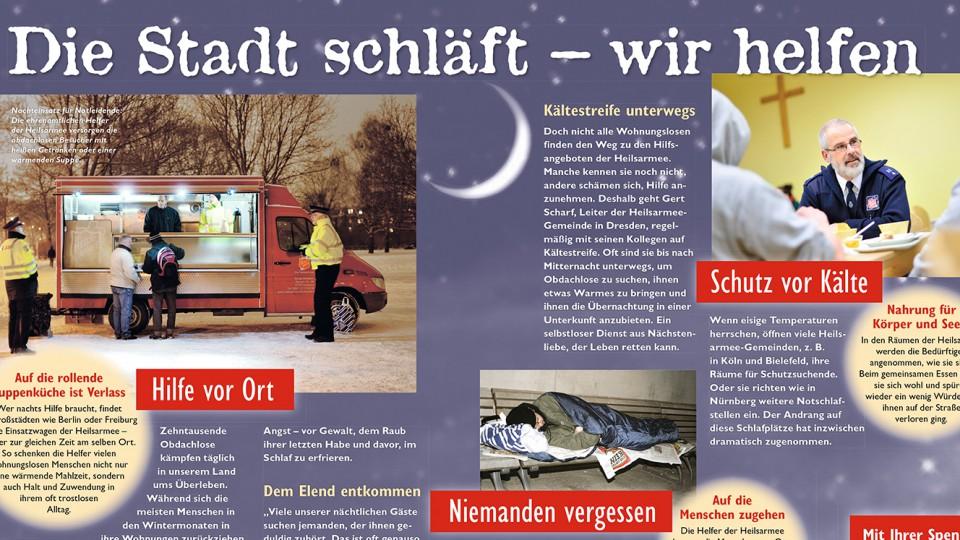 Heilsarmee Kälte Mailing